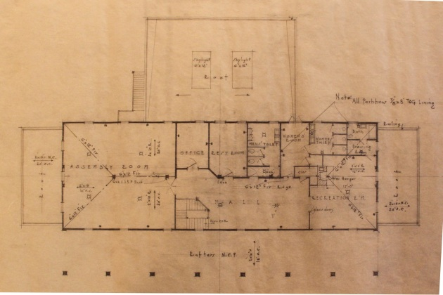 Second Floor Plan Photograph